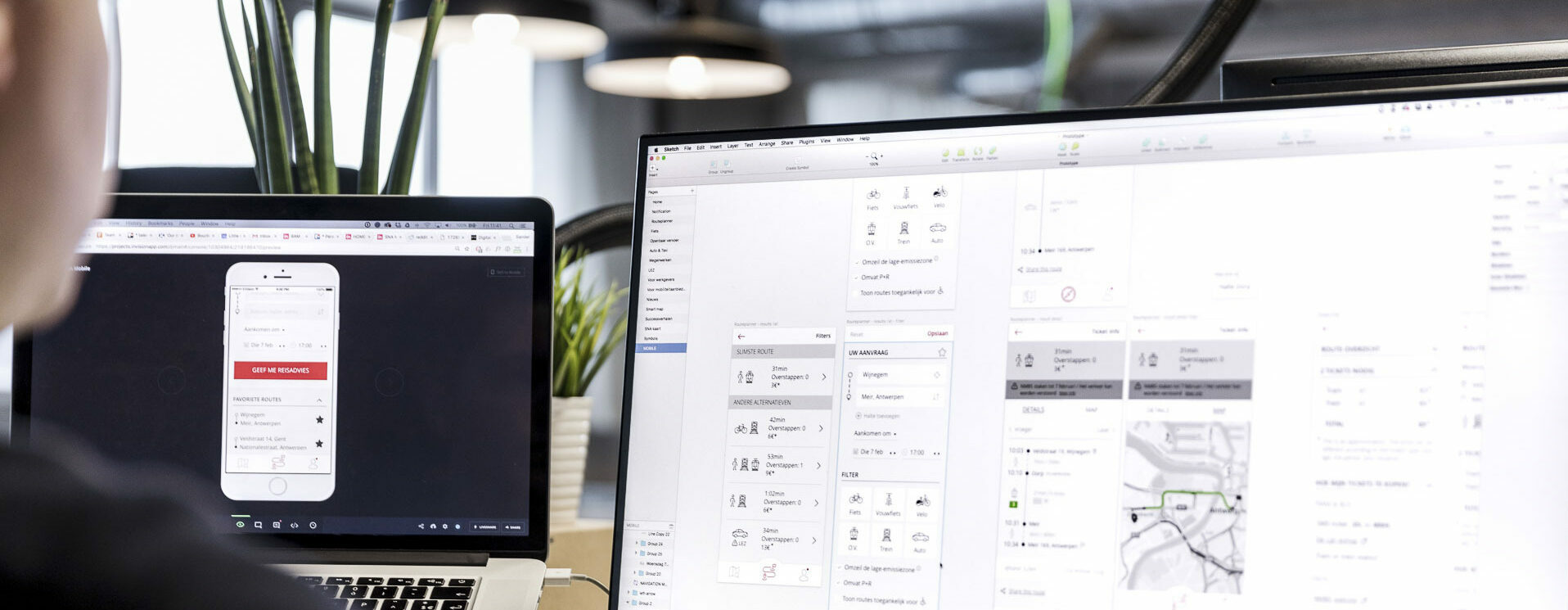 example of a designer creating a UI